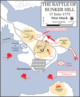 Bunker Hill Map American Revolution