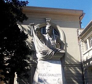 Felice Cavallotti - Bust to Felice Cavallotti in Como
