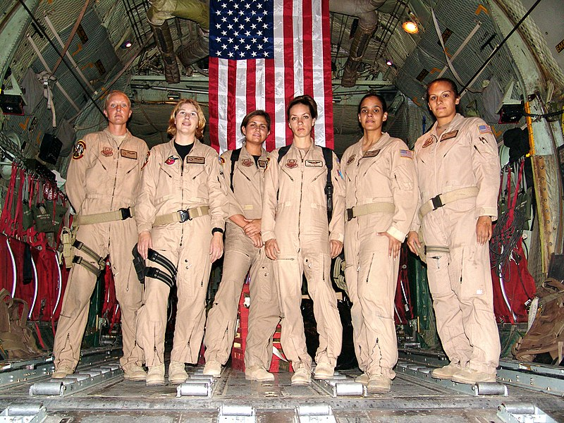File:C-130 - First all female crew.jpg