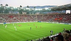Stade de Genève - Switzerland-Albania play in 2003 at the Stade de Genève