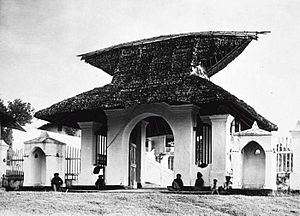 Ternate - Gate of the palace of Ternate Sultanate.