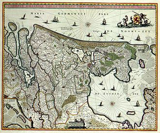 Holland - A map of Holland from 1682.