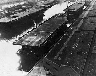 USS <i>Makassar Strait</i> Casablanca-class escort carrier of the US Navy