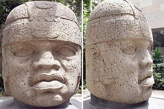 Pre-Columbian Mexico - Olmec colossal head 1, at Jalapa.