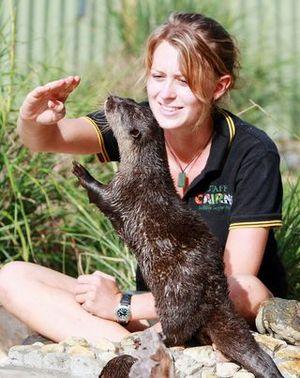 Shambala Animal Kingdom - Zookeeper with otter