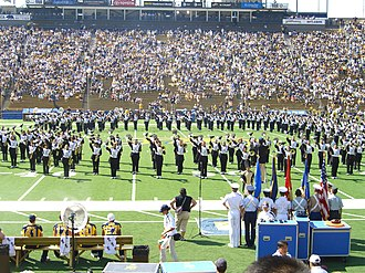University of California Marching Band - The Cal Band performs during a pre-game show