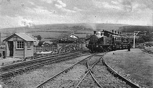 Plymouth, Devonport and South Western Junction Railway - Locomotive 5 Lord St Levan with a train at Callington