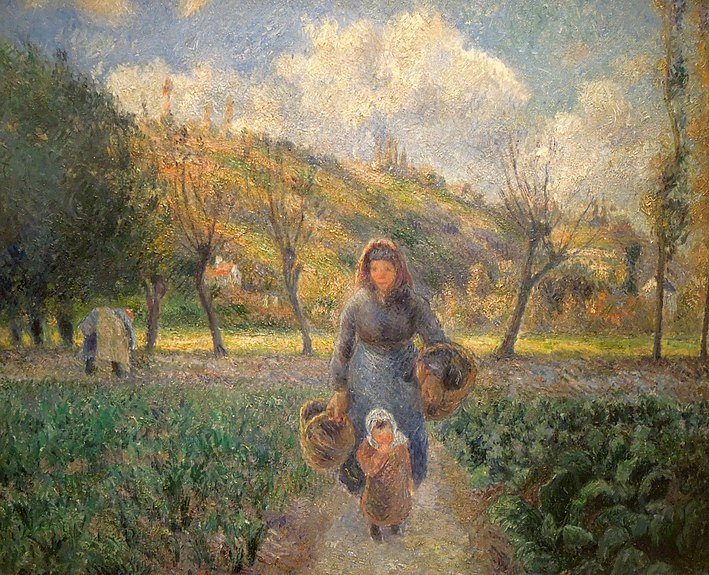 File:Camille Pissarro - In the Vegetable Garden.jpg