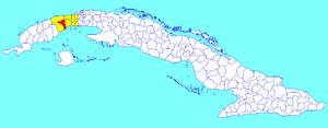 Candelaria, Cuba - Image: Candelaria (Cuban municipal map)