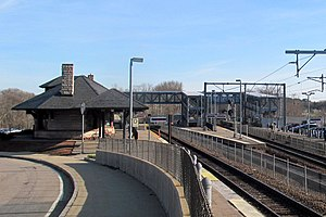 Canton Junction station from Beaumont Street, April 2016.JPG