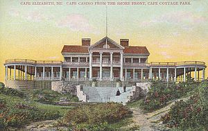 Cape Elizabeth, Maine - Image: Cape Cottage Casino, Cape Elizabeth, ME