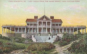 Cape Elizabeth, Maine - Image: Cape Cottage Casino, Cape Elizabeth, ME