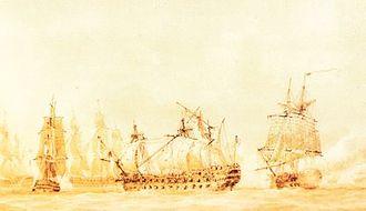 HMS Inconstant (1783) - Image: Capture of Ca Ira Nicolas Pocock