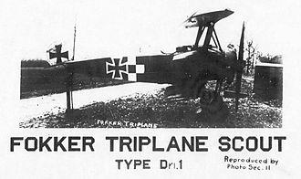 IV Corps Observation Group - Captured Fokker Dr.I fighter at Coblenz Airfield