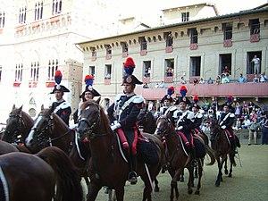 Carabinieri Cavalry Regiment - Mounted Carabinieri in Siena