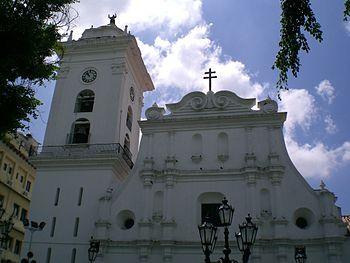 Vista de la Catedral de Caracas