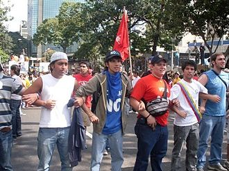 2009 Venezuelan constitutional referendum - Students protesting against the referendum. Caracas, Venezuela; 19 January 2009