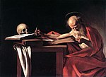Caravaggio - Saint Jerome Writing, c1606.jpg