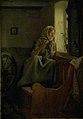 Carl Bloch - En gammel bondekone, der ser ud af et vindue - KMS1541 - Statens Museum for Kunst.jpg