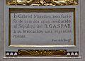 Cartel·la amb la història de Gabriel Morellon, capella del beat Gaspar Bono, església de sant Sebastià, València.JPG