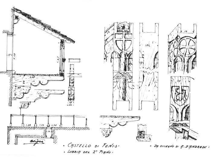 File castello di fenis lobbia del 2o piano da schizzo d for Disegno del piano online