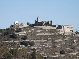 Castelltallat range - Castelltallat summit with the church and observatory