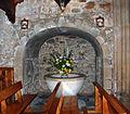 Castrejón de la Peña Church of Saint Agatha 008 Baptismal font.jpg