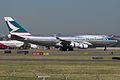 Cathay Pacific Cargo, Boeing 747-444(BCF), B-HUS (16288652500).jpg