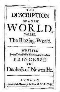 <i>The Blazing World</i> 1666 Margaret Cavendish story