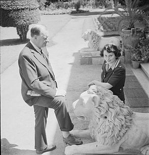 Miles Lampson, 1st Baron Killearn - Lampson with his second wife Jacqueline in the gardens of the Cairo embassy