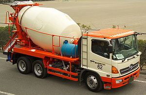 Concrete mixer - This Kayaba Rocket concrete mixer delivers concrete in Japan.