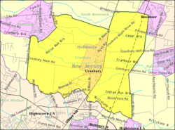 Census Bureau map of Cranbury Township, New Jersey
