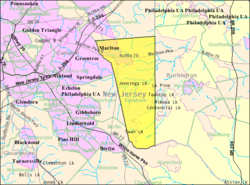 Census Bureau map of Evesham Township, New Jersey.png