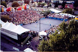 Sunrise Mall (Citrus Heights, California) - Overhead view of a Sacramento Capitals match