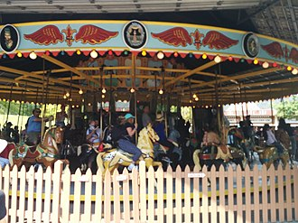 Centreville Amusement Park - The park includes a vintage 1907-vintage carousel made by the Dentzel Carousel Company, one of 150 that remains in operation.