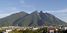 Cerro de la Silla, a mountain in Monterrey, Mexico.