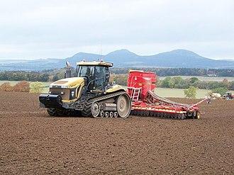 British Compressed Air Society - Pneumatic seed drill at Fairnington near the Scottish Borders