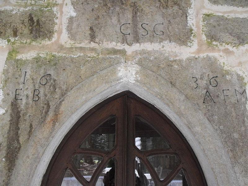 Dédicace et date de la chapelle Saint-Roch d'Urtière, Doubs, France