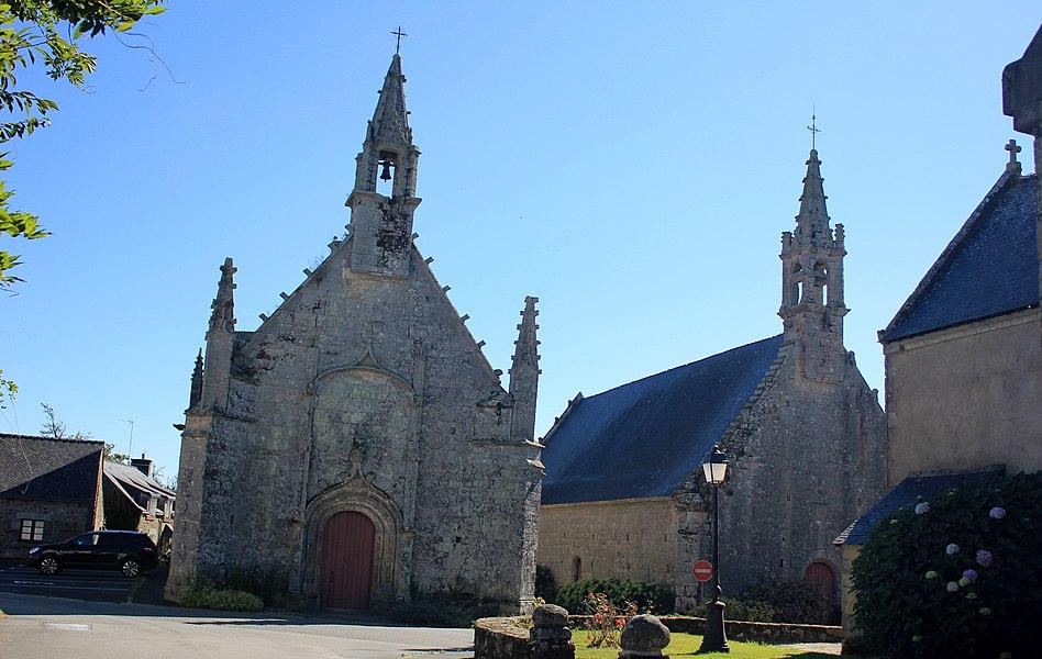 Chapelle de la Trinité (Plumergat): vue générale avec la Chapelle Saint-Servais à Droite