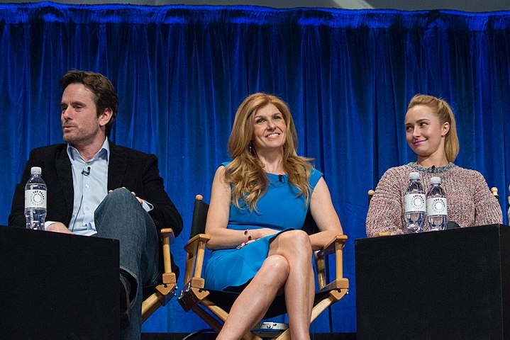 Charles Esten, Connie Britton and Hayden Panettiere at PaleyFest 2013.jpg