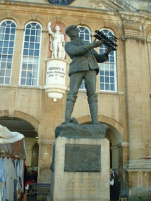 Monmouth - Statue of Charles Rolls at Shire Hall
