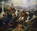 Charles de Steuben's Bataille de Poitiers en octobre 732 romantically depicts a triumphant Charles Martel (mounted) facing Abdul Rahman Al Ghafiqi (right) at the Battle of Tours.jpg