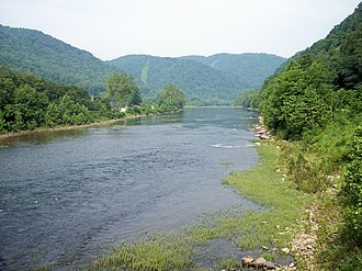 Cheat River - The Cheat River at Rowlesburg, West Virginia