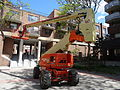 Cherry picker in pedestian courtyard SW of Sherbourne and Front, 2015 05 22 (6) (17389588374).jpg