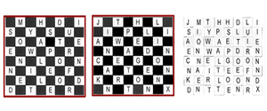 Grille (cryptography) - A trellis or chessboard cipher.