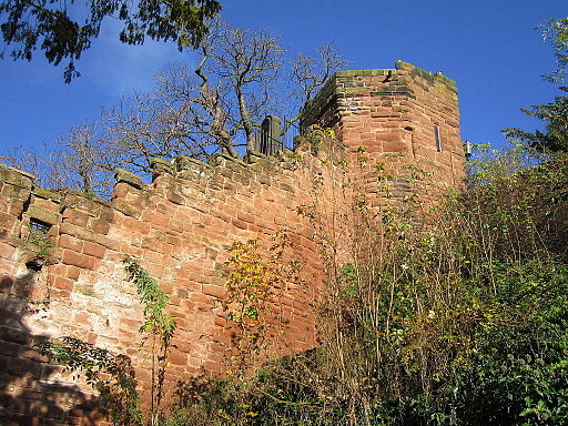 Chester city walls in The Water Tower Gardens (3)
