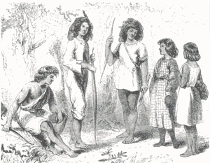 Chetco people - Members of the Chectco tribe in 1856