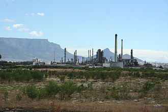Economy of the Western Cape - Chevron Oil Refinery (previously known as the Caltex Refinery) in Cape Town, South Africa.