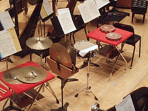 Percussion section - Auxiliary percussion section of the Civic Orchestra of Chicago