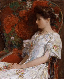 Childe Hassam - The Victorian Chair - Google Art Project